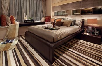 170平三居现代风格案例欣赏现代卧室装修图片