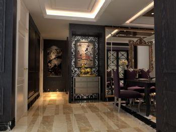 142平三居欧式古典混搭风格案例东南亚过道装修图片