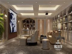 成都尚层装饰别墅装修复地御香山现代混搭风格案例欣赏混搭玄关装修图片