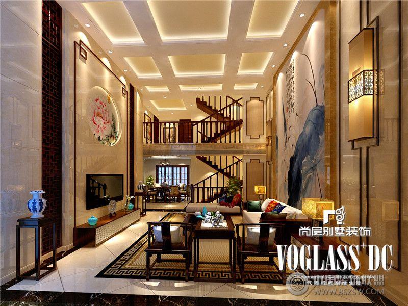 设计理念: 成都尚层装饰别墅装修设计师案例说明:业主喜中式风格,但是不要过于厚重。常住人口5人,母亲还有两个小孩。女主人比较注重餐厅、厨房的设计师,要求女设计师,比较懂得生活注重细节的处理。中式风格以宫廷建筑为代表的中国古典建筑的室内装饰设计艺术风格,气势恢弘、壮丽华贵、高空间、大进深、金碧辉煌、雕梁画柱造型讲究对称,色彩讲究对比,装饰材料以木材为主,图案多龙、凤、龟、狮等,精雕细琢、瑰丽奇巧。但中式风格的装修造价较高,且缺乏现代气息,只能在家居中点缀使用。现代中式风格更多地利用了后现代手法,墙上挂一幅中