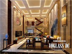 成都尚层装饰别墅装修保利蝴蝶谷中式风格案例中式客厅装修图片