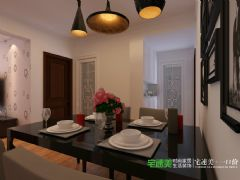 华强城美加印象两室两厅89平现代风格装修效果图现代餐厅装修图片
