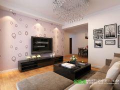 华强城美加印象两室两厅89平现代风格装修效果图现代风格小户型
