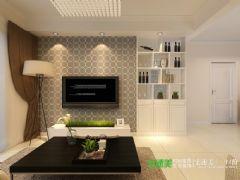 柏庄观邸三室两厅89平现代风格装修效果图现代风格小户型
