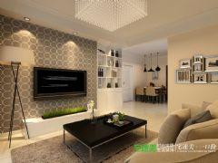 柏庄观邸三室两厅89平现代风格装修效果图现代客厅装修图片
