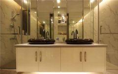 成都尚层别墅装饰——城南一号现代简约卫生间装修图片