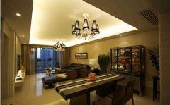 成都尚层别墅装饰——城南一号现代简约客厅装修图片