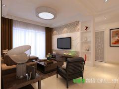 东方龙城104平三室两厅现代风格装修效果图现代客厅装修图片