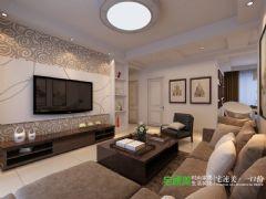 东方龙城104平三室两厅现代风格装修效果图现代风格三居室