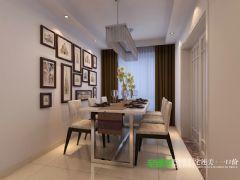 东方龙城104平三室两厅现代风格装修效果图现代餐厅装修图片