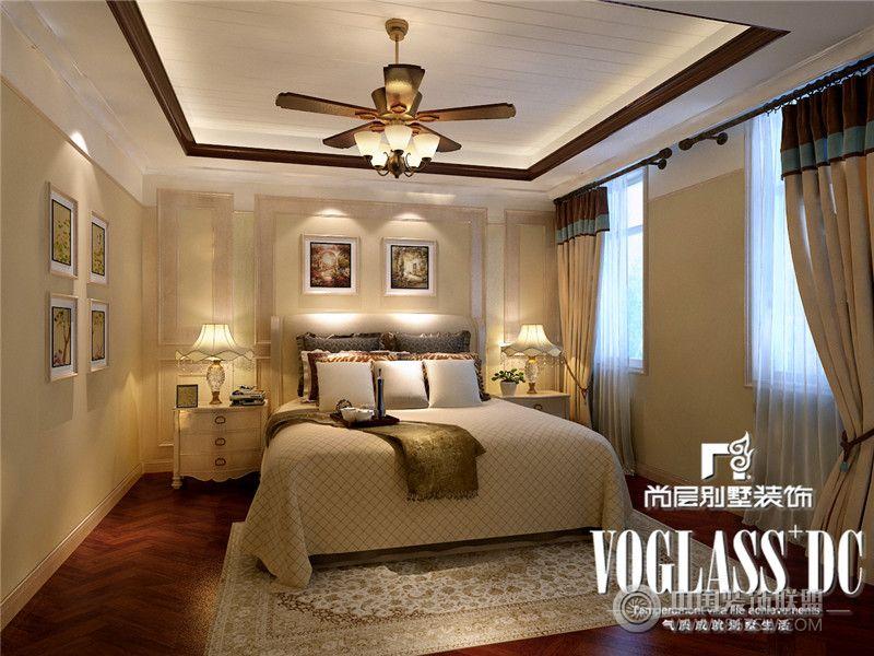 别墅装修推荐保利蝴蝶谷欧式风格案例卧室装修图片