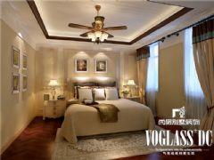 成都尚层装饰别墅装修推荐保利蝴蝶谷欧式风格案例欧式卧室装修图片