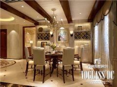 成都尚层装饰别墅装修推荐保利蝴蝶谷欧式风格案例欧式客厅装修图片