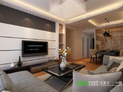 信德半岛93平三室两厅现代风格装修效果图现代客厅装修图片