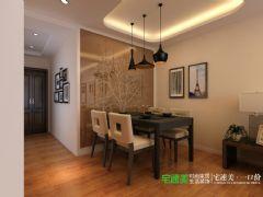 信德半岛93平三室两厅现代风格装修效果图现代餐厅装修图片