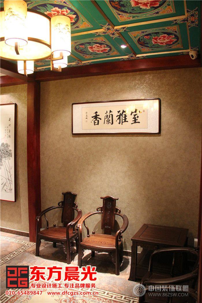 中式饭店装修设计高端优雅-单张展示-餐馆装修效果图