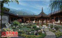 朝阳四合院设计中式风景如画-东方晨光会所装修图片