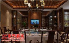 东方晨光专业承接中式饭店设计餐馆装修图片