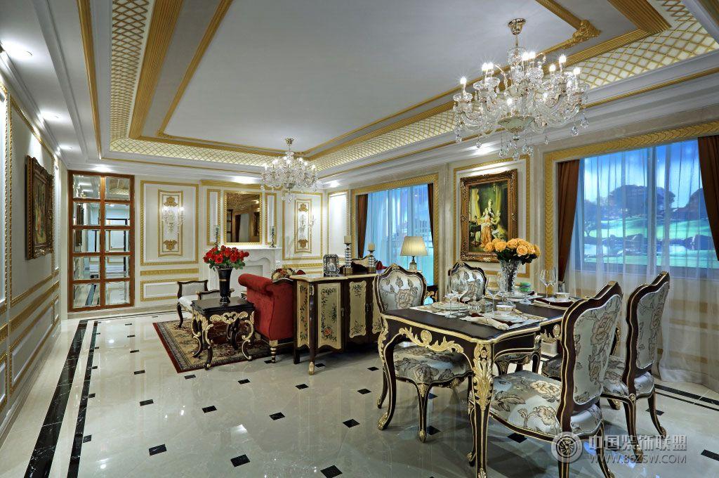 sl南宁霖峰壹号欧式宫廷风格样板房设计欧式客厅装修图片