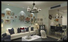 【枫雅装饰】MAX未来城91平现代简约风格现代客厅装修图片