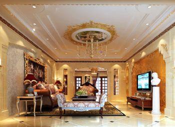 256平四居简欧风格案例简约客厅装修图片