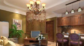 60平一居美式风格案例欣赏美式厨房装修图片