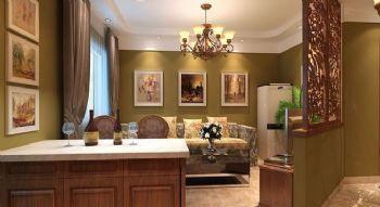 60平一居美式风格案例欣赏美式客厅装修图片