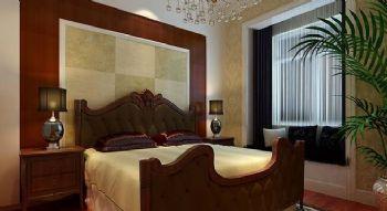 60平一居美式风格案例欣赏美式卧室装修图片