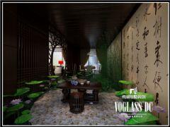 丽都花园中式风格效果图欣赏中式阁楼装修图片