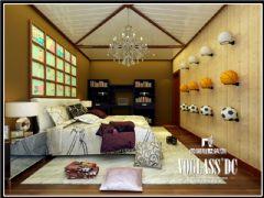 丽都花园中式风格效果图欣赏中式卧室装修图片