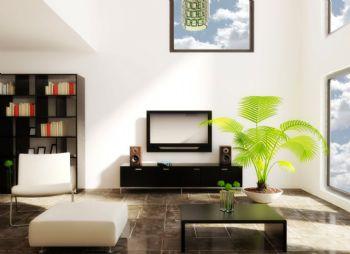 植物摆放客厅设计方案现代客厅装修图片