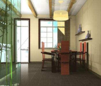 98平三居中式风格案例中式餐厅装修图片