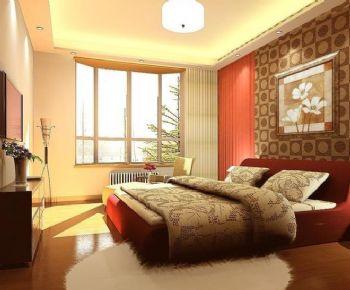 98平三居中式风格案例中式卧室装修图片