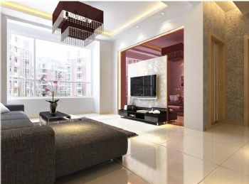 110平三居现代风格装修案例现代客厅装修图片