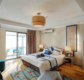 光大花园142平四居现代风格案例现代卧室装修图片