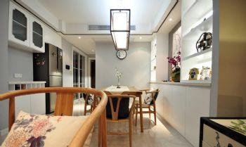 96平简约中式演绎摆放设计简约餐厅装修图片