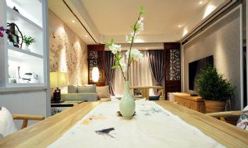 96平简约中式演绎摆放设计简约客厅装修图片