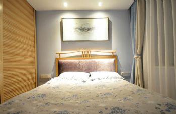 96平简约中式演绎摆放设计简约卧室装修图片