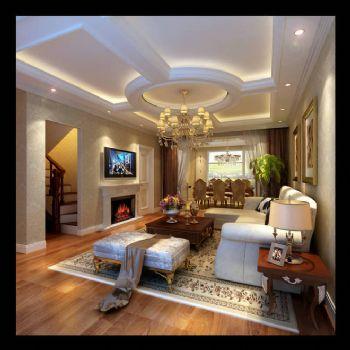 340平别墅欧式古典风格古典客厅装修图片