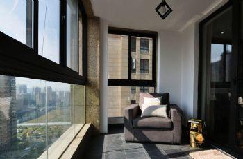 阳台变身书房洗衣间设计案例现代书房装修图片