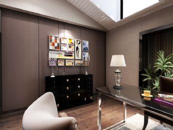 220平现代风格装修案例现代书房装修图片