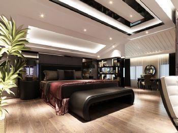 220平现代风格装修案例现代卧室装修图片