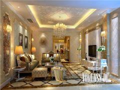 龙湖世纪峰景简欧风格效果图欣赏欧式客厅装修图片