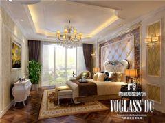 龙湖世纪峰景简欧风格效果图欣赏欧式卧室装修图片