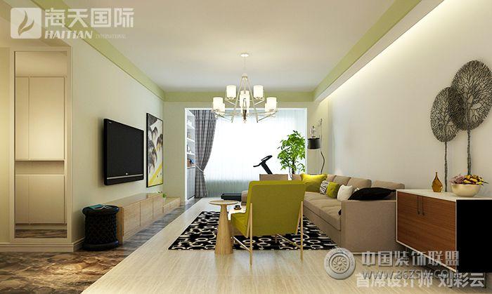 大成逐鹿会_美式二居室装修效果图_八六(中国)装饰(86图片