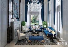 欧式新古典浪漫风格案例古典客厅装修图片