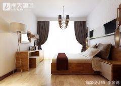 大成逐鹿会  回归本色现代简约卧室装修图片