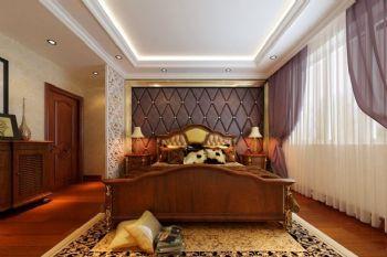 120平美式风格装修案例美式卧室装修图片
