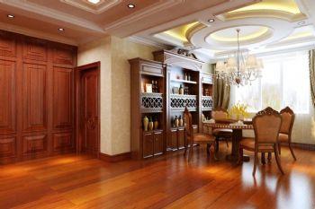 120平美式风格装修案例美式餐厅装修图片