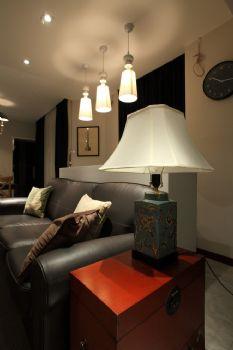 98平中式演绎温馨淡泊的闲暇时光中式客厅装修图片
